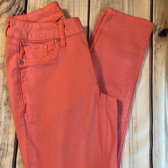 Maurice's Coral Pink Skinny Slim Pant  XS R